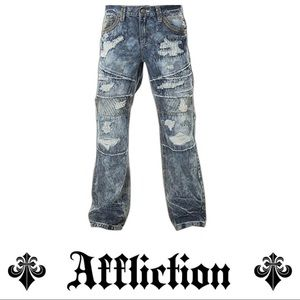 Affliction Men`s Relaxed Straight Denim Jeans